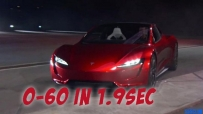 Tesla Roadster 2020 - 0-60mph in 1.9 seconds - First Ride!